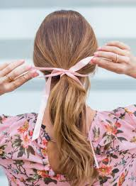 ribbon ponytail sydne style shows how tie a hair ribbon for ponytail trends from