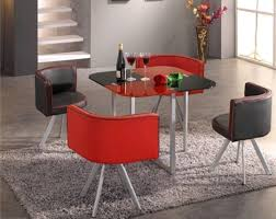 Space Saver Dining Set by Modern Compact Space Saver Dining Table With Chairs Red U0026 Black