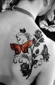 beautiful butterfly tattoos with names design idea