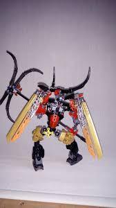 ignis toa of obsidian and skarax the skull warrior lego