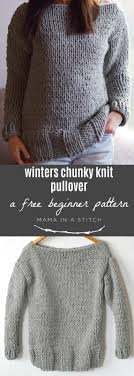how does it take to knit a sweater winters chunky easy knit pullover pattern in a stitch