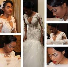 south wedding dresses 2017 south africa sleeves lace trumpet mermaid wedding