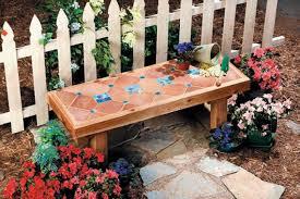 a diy ceramic tile bench garden pinterest yard ideas