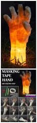 14 homemade halloween decorations 3 masking tape hand diy