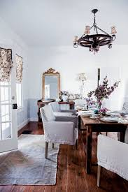 White And Wood Dining Chairs Dining Room Shabby Chic Dining Set With Slipcover Chair And Blue