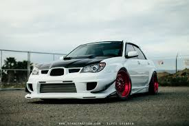 subaru cars white 2006 subaru wrx sti cars white modified wallpaper 1500x1000
