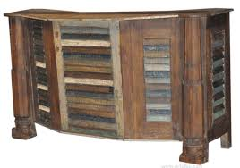 Reclaimed Wood Bar Cabinet Antiques N Accents Antique Reclaimed Wood Bar Counter 009