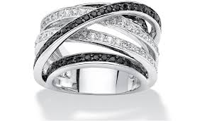 Black Wedding Rings For Her by Types Of Ring Settings Nested White Black Diamond Engagement And