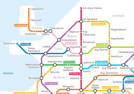 Metro Viena Map by Turning The Roads Of Roman Empire Into A Subway Map Ufunk Net