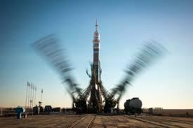 soyuz rocket ready to launch new station crew nasa