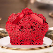 50pc Wedding Gift Box Laser Lace Sweet Bag Wedding Favors Gift For