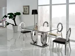 glass dining room table extraordinary modern glass dining room tables awesome table in set