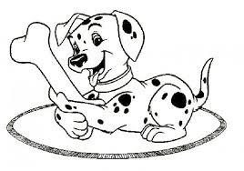 101 dalmation coloring pages kids dalmatian sock