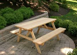 Round Redwood Picnic Table by Table Octagonal Picnic Table Awesome Stained Picnic Table