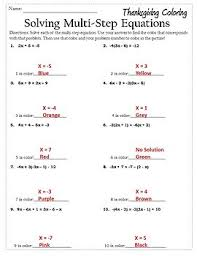 algebra activities equations thanksgiving algebra 1 2 worksheet