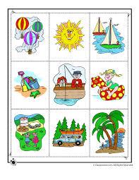 summer matching game print 2 woo jr kids activities