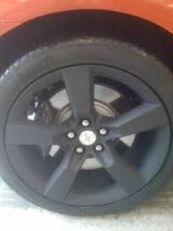camaro flat tire fs 2 rear ss rims powder coated flat black camaro5 chevy camaro