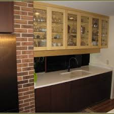 Wall Hung Kitchen Cabinets Appealing Bamboo Kitchen Cabinets With Double Single Doors Kitchen