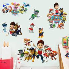 Paw Patrol Room Decor Aliexpress Com Buy 3d Cartoon Paw Patrol Snow Slide Wall
