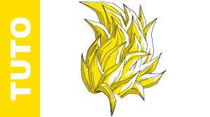 draw goku ssj3 hair dragon ball