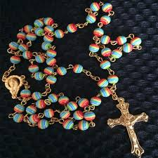 catholic rosary online online shop catholic accessories rainbow resin rosary