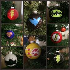 hand painted dc comics christmas ornaments the flash nightwing