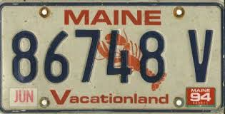 Maine State Vanity Plates Potpourri The Andrew Turnbull License Plate Gallery