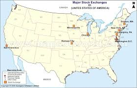 usa stock exchange map list of stock exchange in usa