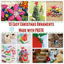 13 easy ornaments for to make with pasta artsy