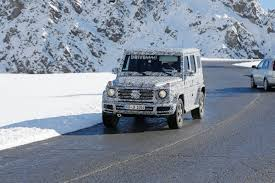 all new 2018 mercedes benz g class spied relaxing in the alps