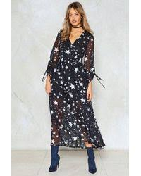 nasty gal coven lace maxi dress in black lyst