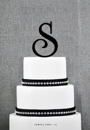 s cake topper letter s monogram initial cake toppers personalized initial