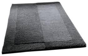 slate gray thick plush reversible cotton bathroom rug