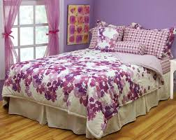 bed comforter sets for teenage girls stunning lavender flower pattern comforter set with reversible