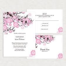 Cherry Blossom Wedding Invitations Cherry Blossom Wedding Invitation Template Printable Diy