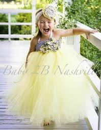 Canary Yellow Dresses For Weddings Yellow Dress Flower Dress Silver Dress Tulle Dress Tutu