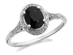 black sapphire engagement rings 9ct white gold black sapphire and cluster ring r0919 f