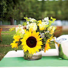 sunflower centerpieces wedding table centerpieces southern living