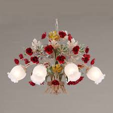 Red Light Fixture by Boutique 8 Light Red Rose Dining Room Chandelier