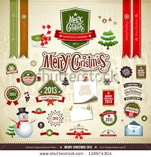christmas collections collection vintage retro grunge christmas labels stock vector