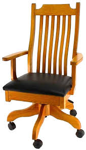 mission office desk chair from dutchcrafters amish furniture