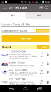 cek resi raja ongkir cekresi com cek resi dan tarif all in one google play store