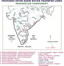 South India Map by National River Linking Project Dream Or Disaster