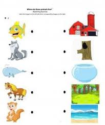 free printable matching animals to their home worksheet 3