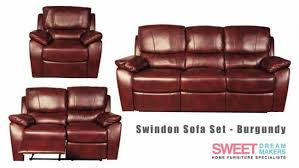 Burgundy Leather Sofa Set Swindon Burgundy Leather Recliner Sofa Set At Sweet Makers