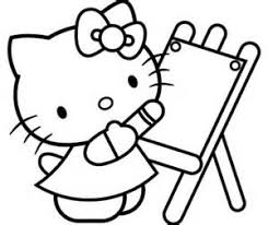 coloring pages coloring pages kitty numbers allcolored