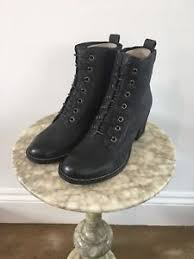 s heeled ankle boots uk cara sabine s black ash leather lace up heeled ankle