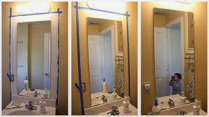 diy bathroom mirror frame ideas fresh diy frame bathroom mirror