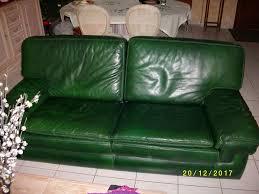 achetez canapé cuir vert 2 occasion annonce vente à ballan miré 37
