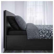 Letto Malm Ikea by Malm Ottoman Bed Black Brown Standard King Ikea